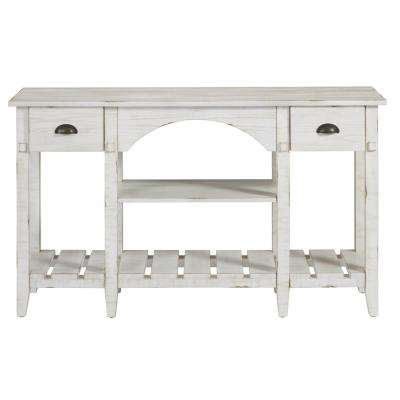 Mercantile White Console Table