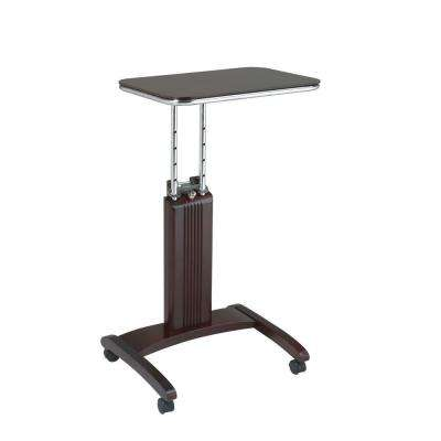 Precision Mahogany Laptop Stand with Wheels
