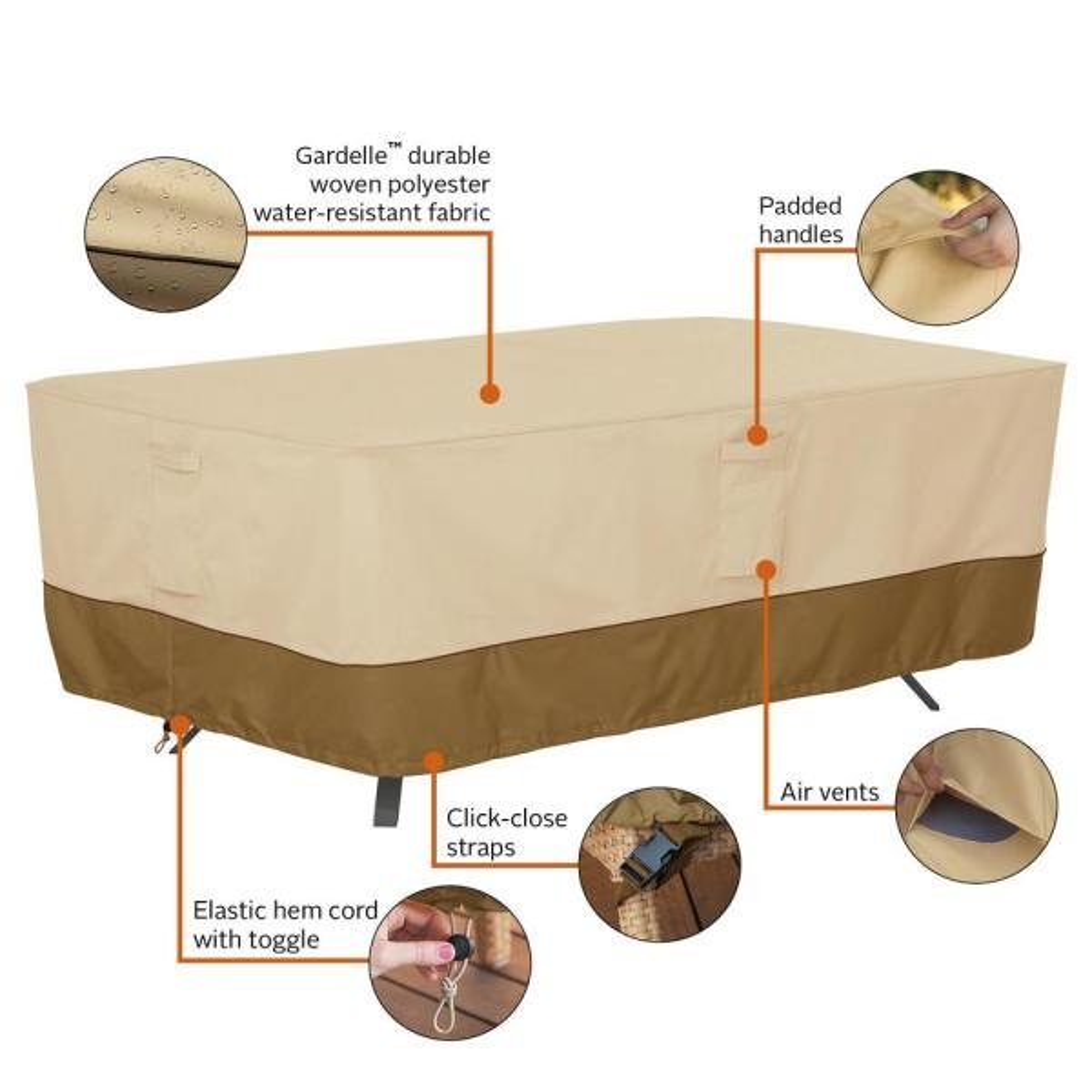 Large Classic Accessories Veranda Rectangular//Oval Patio Table Cover