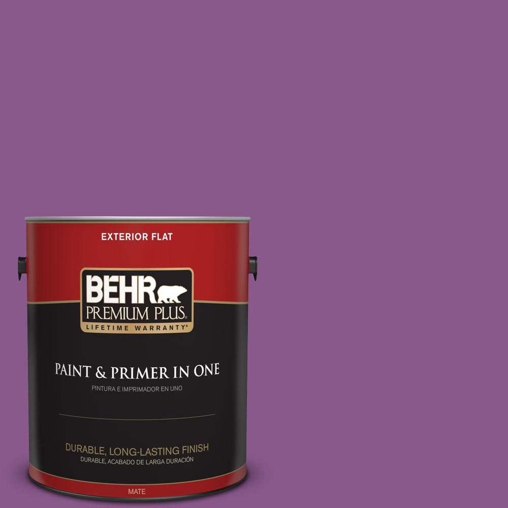 1-gal. #670B-7 Candy Violet Flat Exterior Paint