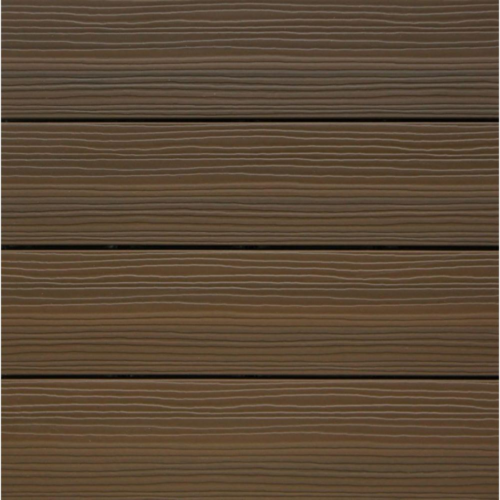 Newtechwood Composite Deck Tile Kit In Ipe Color 10 Tiles
