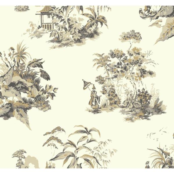 York Wallcoverings Ashford Toiles Oriental Scenic Wallpaper AF1992