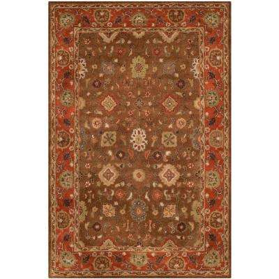 Heritage Moss/Rust 7 ft. 6 in. x 9 ft. 6 in. Area Rug