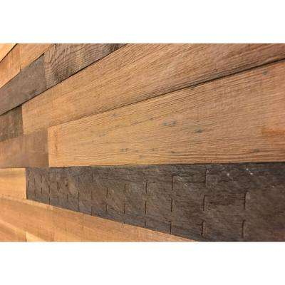 3D Holey Wood 50, 5/16 in. x 28 in. x 12 in. Brown Reclaimed Wood Decorative Wall Panel (10-Pack)