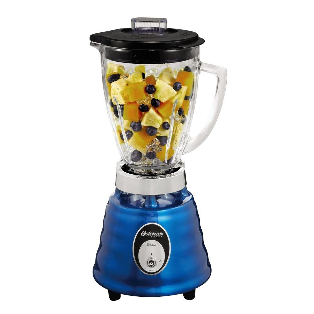 Oster Beehive 2-Speed Blender, Metallic Blue