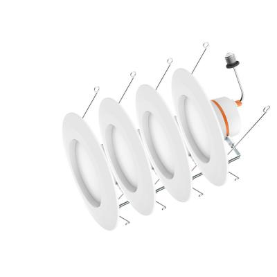 5 in. and 6 in. Color Temperature Selectable Integrated LED Recessed CEC-T20 Trim (4-Pack)