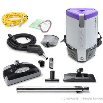 NEW Proteam ProVac Super Coach Pro 6 qt. Backpack Vacuum Cleaner with Power Head