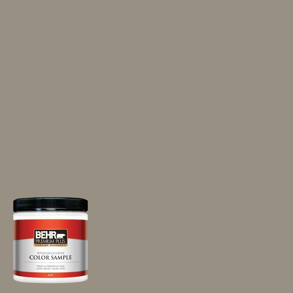 8 oz. #N320-5 Gray Squirrel Flat Zero VOC Interior/Exterior Paint and