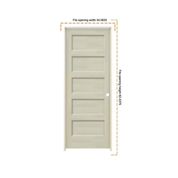 Jeld Wen 32 In X 80 In Conmore Desert Sand Paint Smooth Hollow Core Molded Composite Single Prehung Interior Door Thdjw236700062 The Home Depot