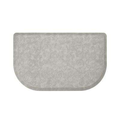 Clarance Grey 32 in. x 20 in. Embossed Wedge Gelness Mat