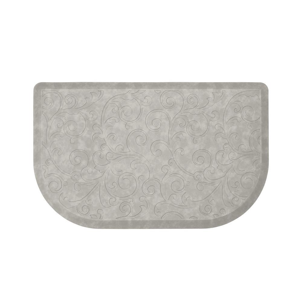 Clarance Grey 32 in. x 20 in. Embossed Wedge Gelness Mat