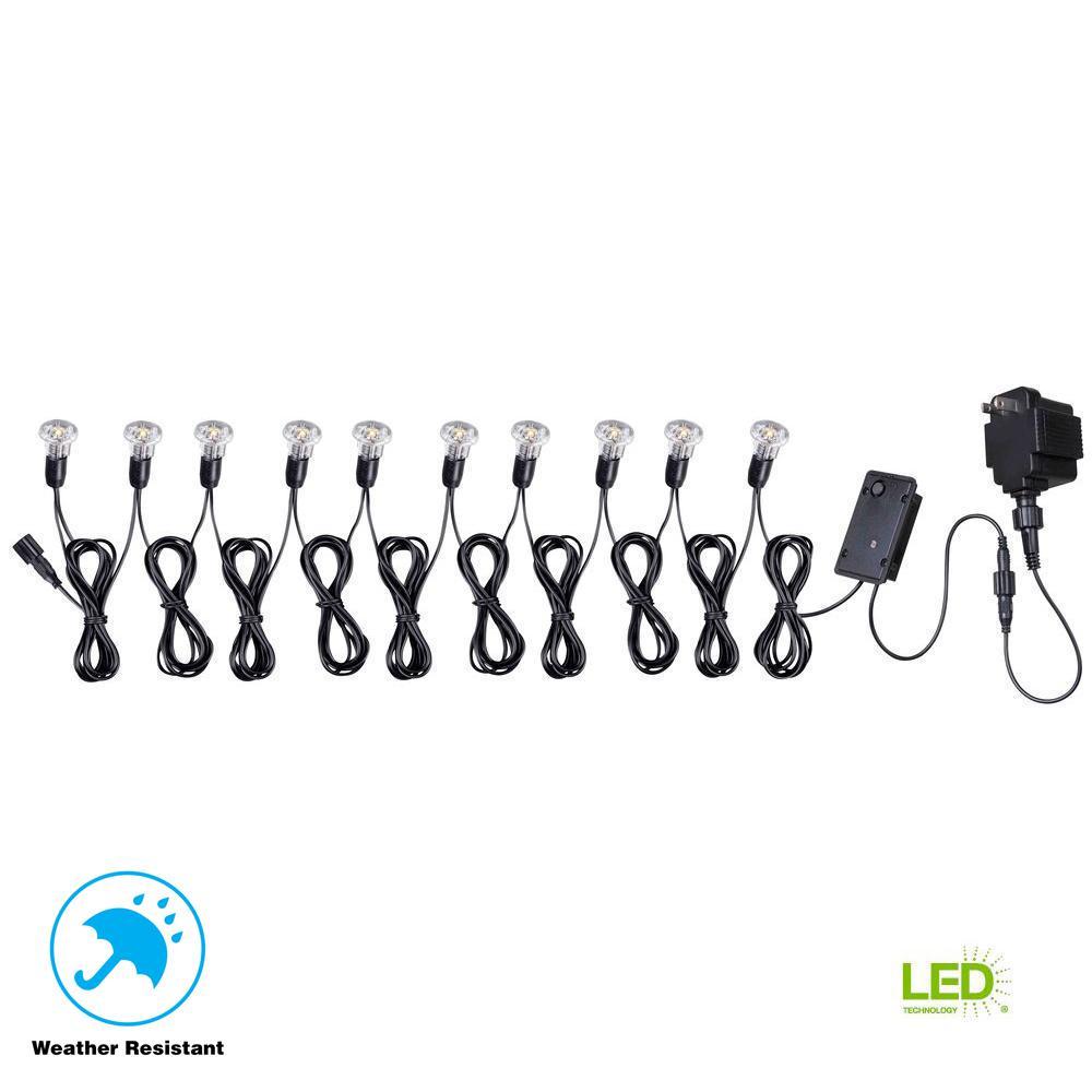 6-Watt Low-Voltage 10-Light Mini String for Solar Deck, Dock and Path Light