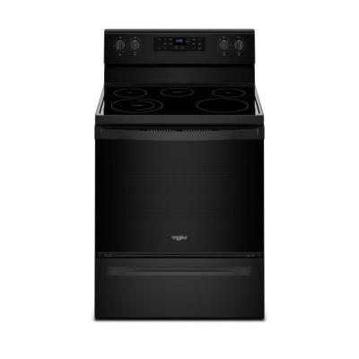 5.3 cu. ft. Electric Range with Steam Clean and 5 Elements in Black