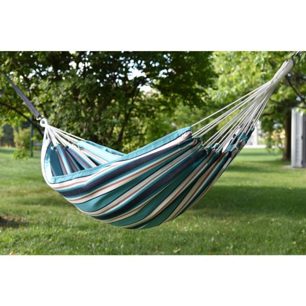 Vivere 13 Ft Brazilian Sunbrella Double Hammock Without Stand In Token Surfside Bzsun06 The Home Depot