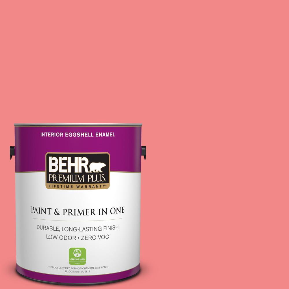 BEHR Premium Plus 1-gal. #150B-5 Cheery Zero VOC Eggshell Enamel Interior Paint