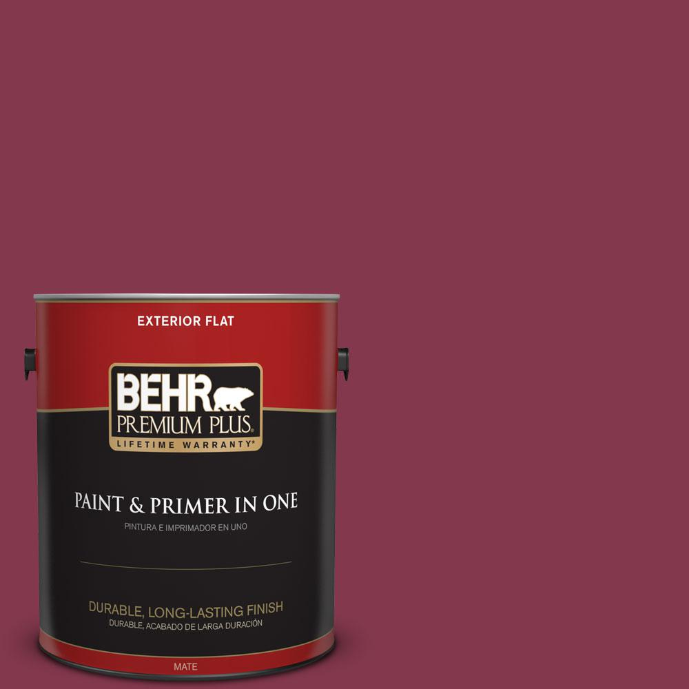 1-gal. #S-H-100 Exotic Flowers Flat Exterior Paint