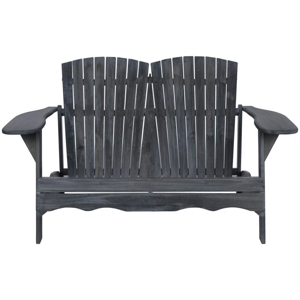 SAFAVIEH Safavieh Hantom Ash Grey Acacia Patio Bench