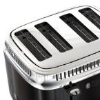 Russell Hobbs Retro Style 4-Slice Black Stainless Steel Toaster with Built-In Timer