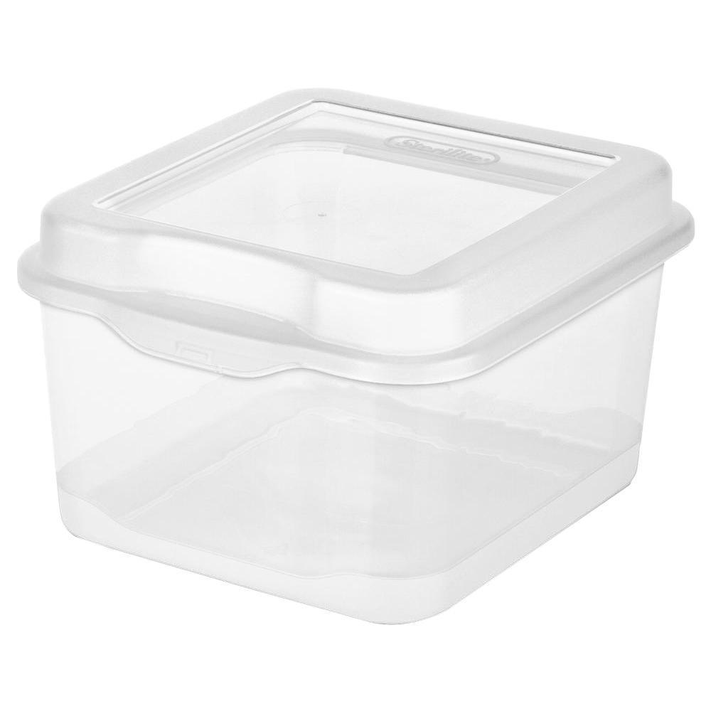 Sterilite 2.5 -Qt. Flip-Top Box