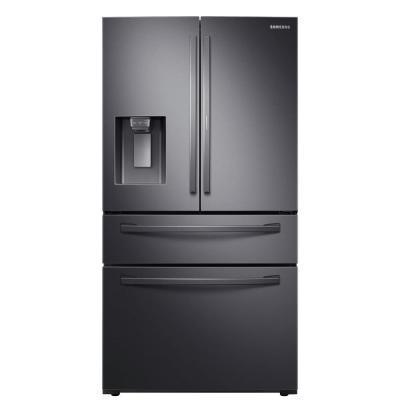 27.8 cu. ft. Food Showcase 4-Door French Door Refrigerator in Fingerprint Resistant Black Stainless