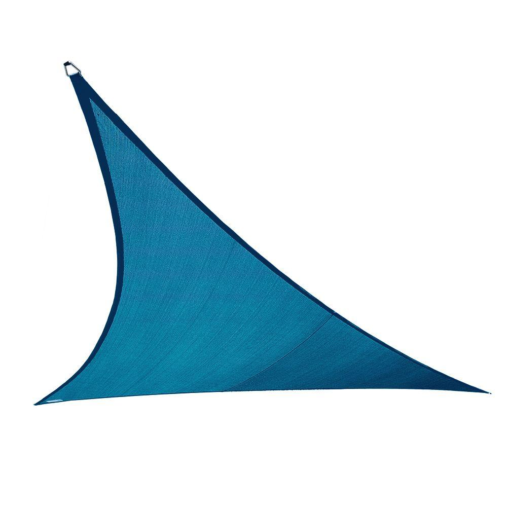 Coolaroo 11 ft. 10 in. Ocean Blue Triangle Shade Sail with Accessory Kit-DISCONTINUED