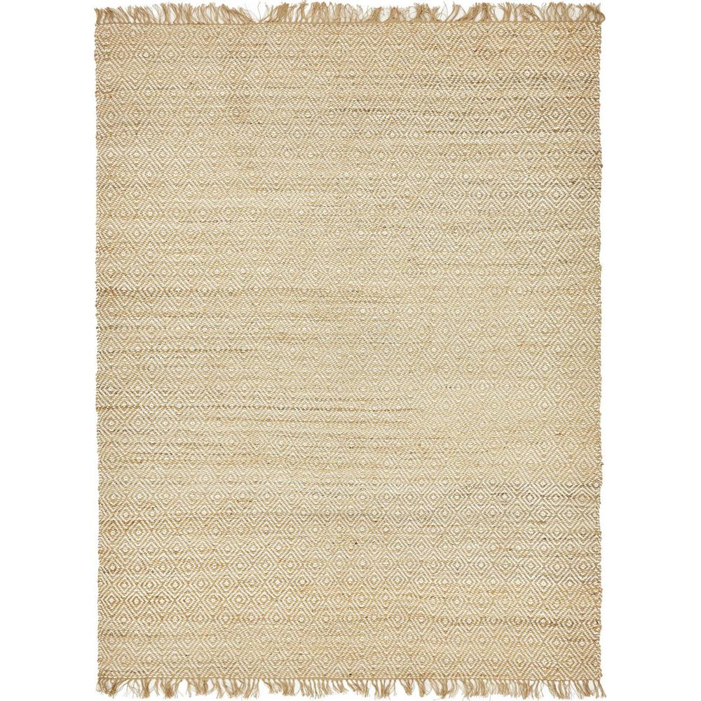 Unique Loom Braided Jute Natural 9 Ft X 12 Area Rug