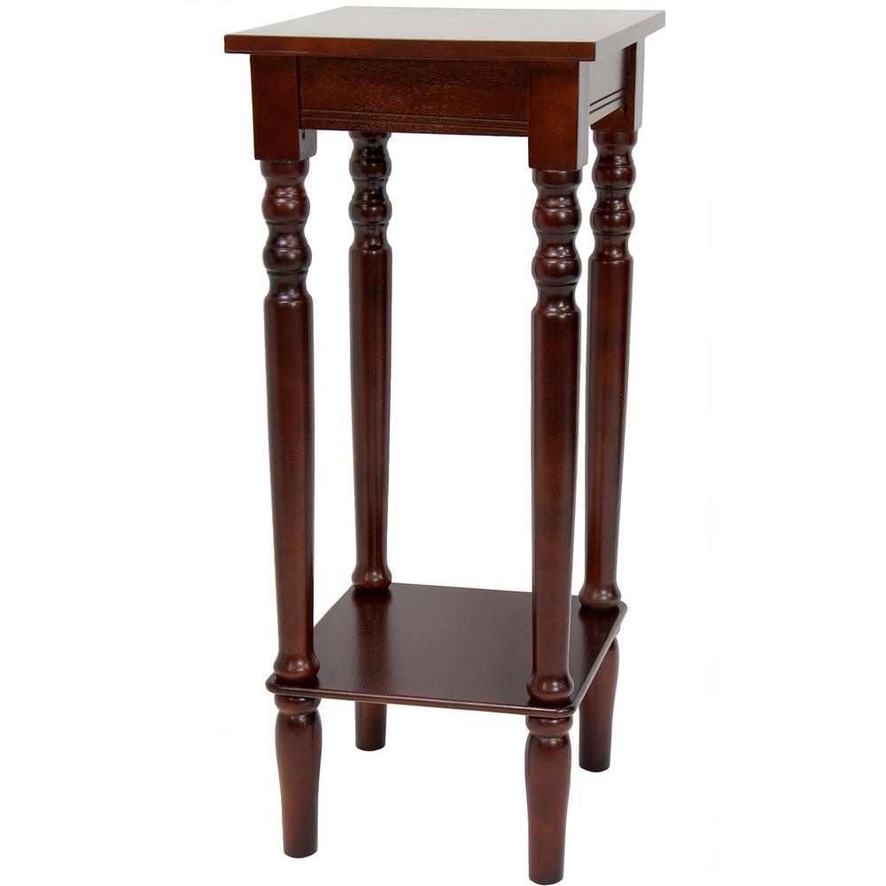 Oriental Furniture Oriental Furniture 11.75 in. Classic Square Plant Stand in
