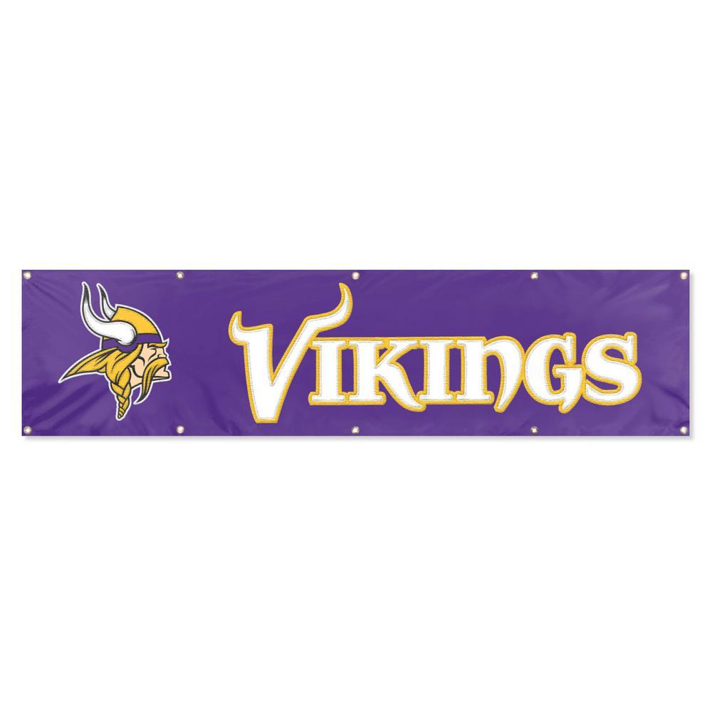 8 ft. x 2 ft. NFL License Vikings Team Banner