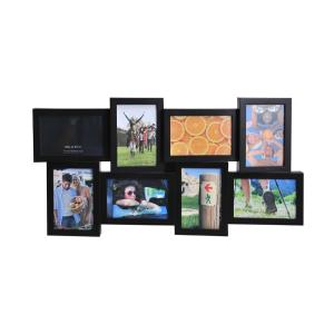 melannco 24 in x12 5 in espresso 8 opening collage picture frame 5129821 the home depot. Black Bedroom Furniture Sets. Home Design Ideas