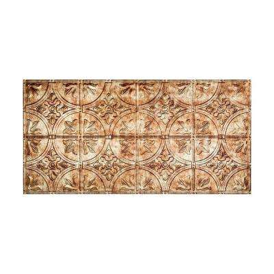 Traditional Style # 2 - 2 ft. x 4 ft. Vinyl Glue-Up Ceiling Tile in Bermuda Bronze