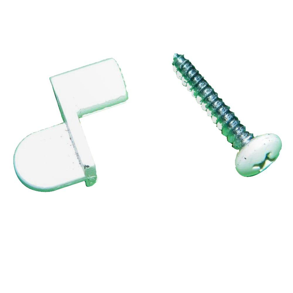 Grisham White Glass and Screen Clips