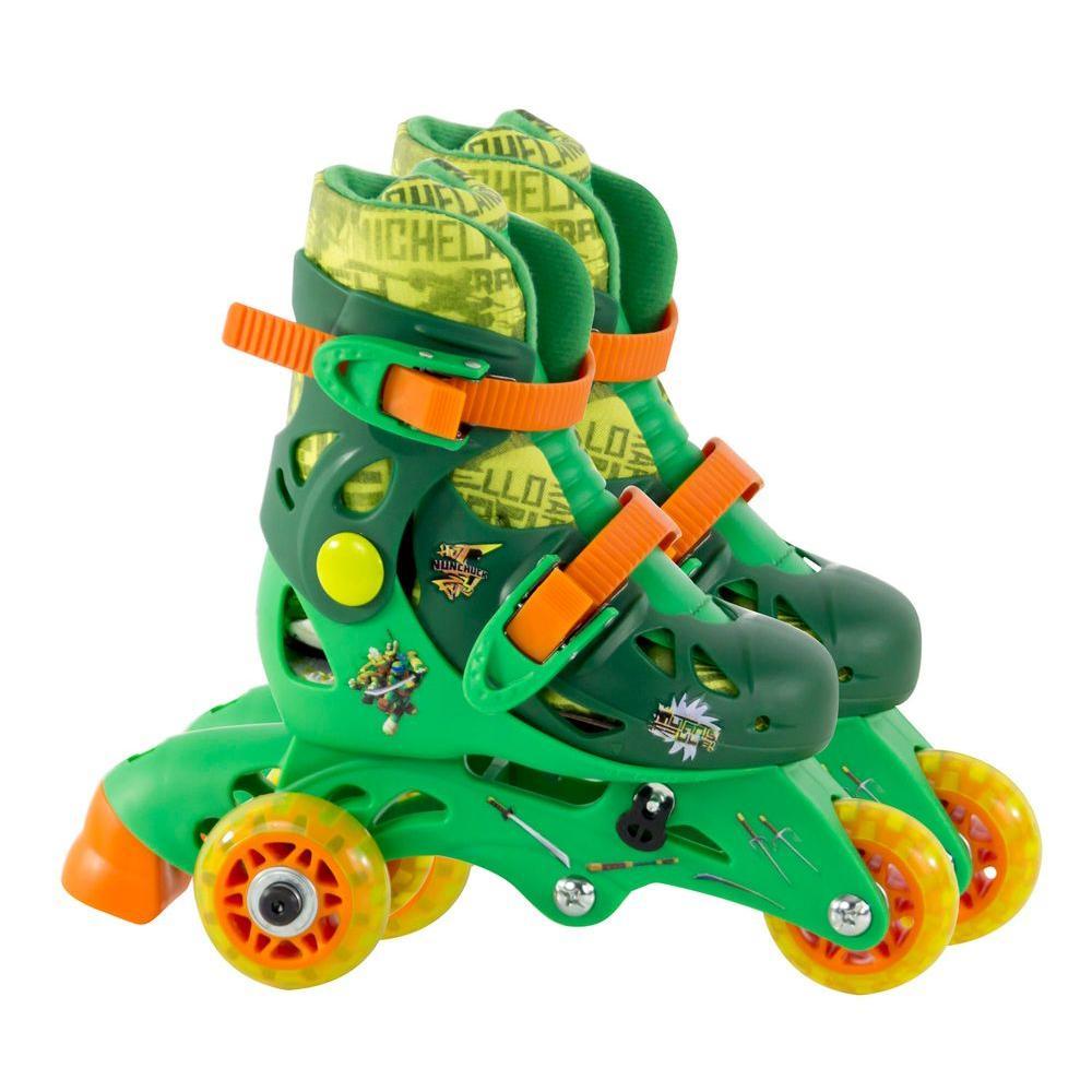 Teenage Mutant Ninja Turtles Convertible 2-in-1 Junior Size 6-9 Roller Skates