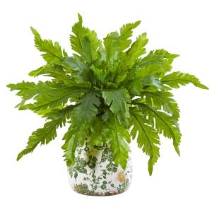 13 in. Fern Artificial Plant in Floral Vase