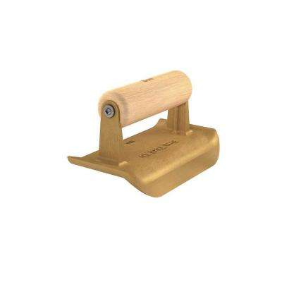 6 in. x 3 in. Gem Bronze Edger with 3/4 in. Radius and Wood Handle