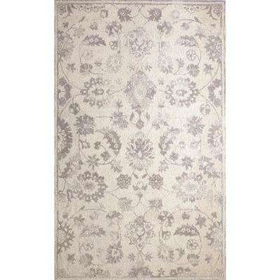 Avalon Ivory/Silver 9 ft. x 13 ft. Indoor Area Rug