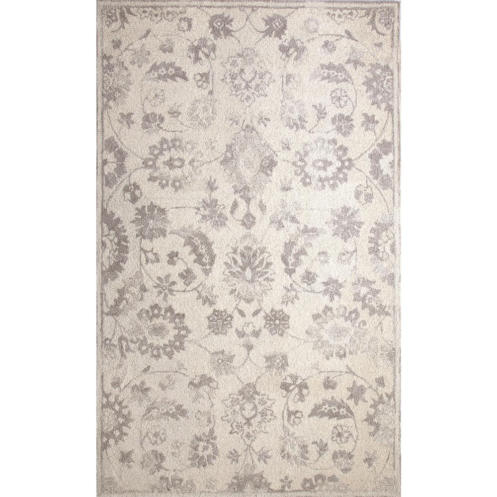 Dynamic Rugs Avalon Ivory Silver 5 Ft X 8 Indoor Area Rug Av6988803106 The Home Depot