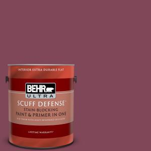 Behr Ultra 1 Gal Home Decorators Collection Hdc Cl 02 Fine Burgundy Extra Durable Flat Interior Paint Primer 172301 The Home Depot