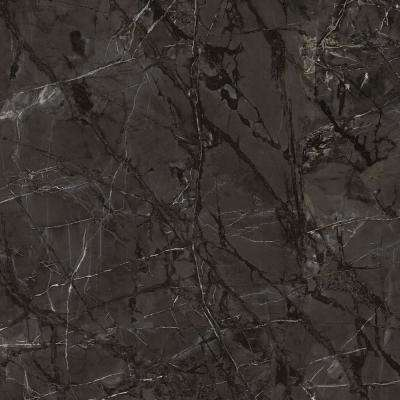 3 in. x 5 in. Laminate Countertop Sample in Cote d'Azur Noir with Premium Textured Gloss