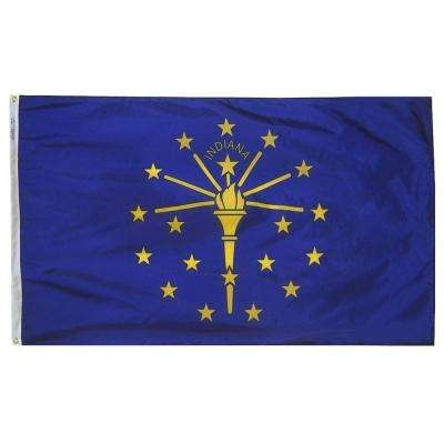 3 ft. x 5 ft. Indiana State Flag