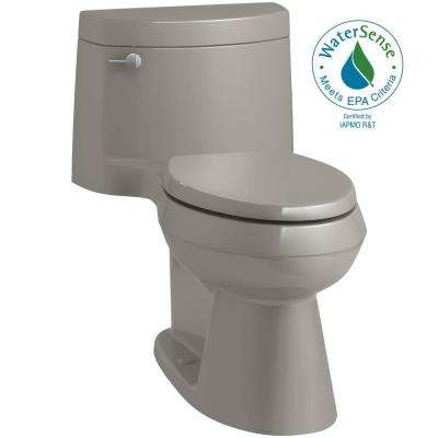 Cimarron 1-Piece 1.28 GPF Single Flush Elongated Toilet in Cashmere (Seat Included)