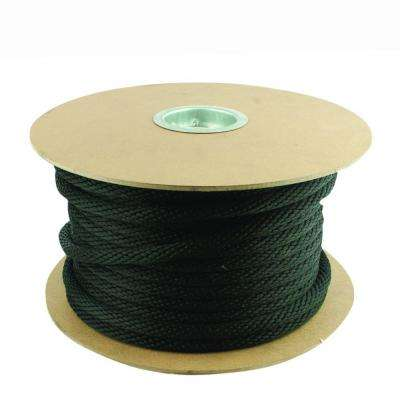 5/8 in. x 200 ft. Black Solid Braid Polypropylene Rope
