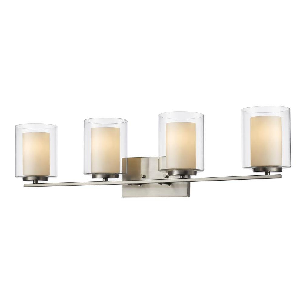 filament design wesson 4 light brushed nickel steel contemporary