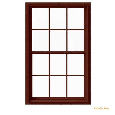 best new construction windows 37375 in 60 w2500 series red painted clad wood double best rated new construction hung windows the