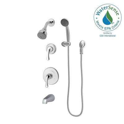 Unity 2-Handle Tub/Shower/Hand Shower System with Strops in Chrome (Valve Included)