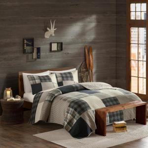 Winter Hills 3-Piece Tan King/Cal King Quilt Mini Set