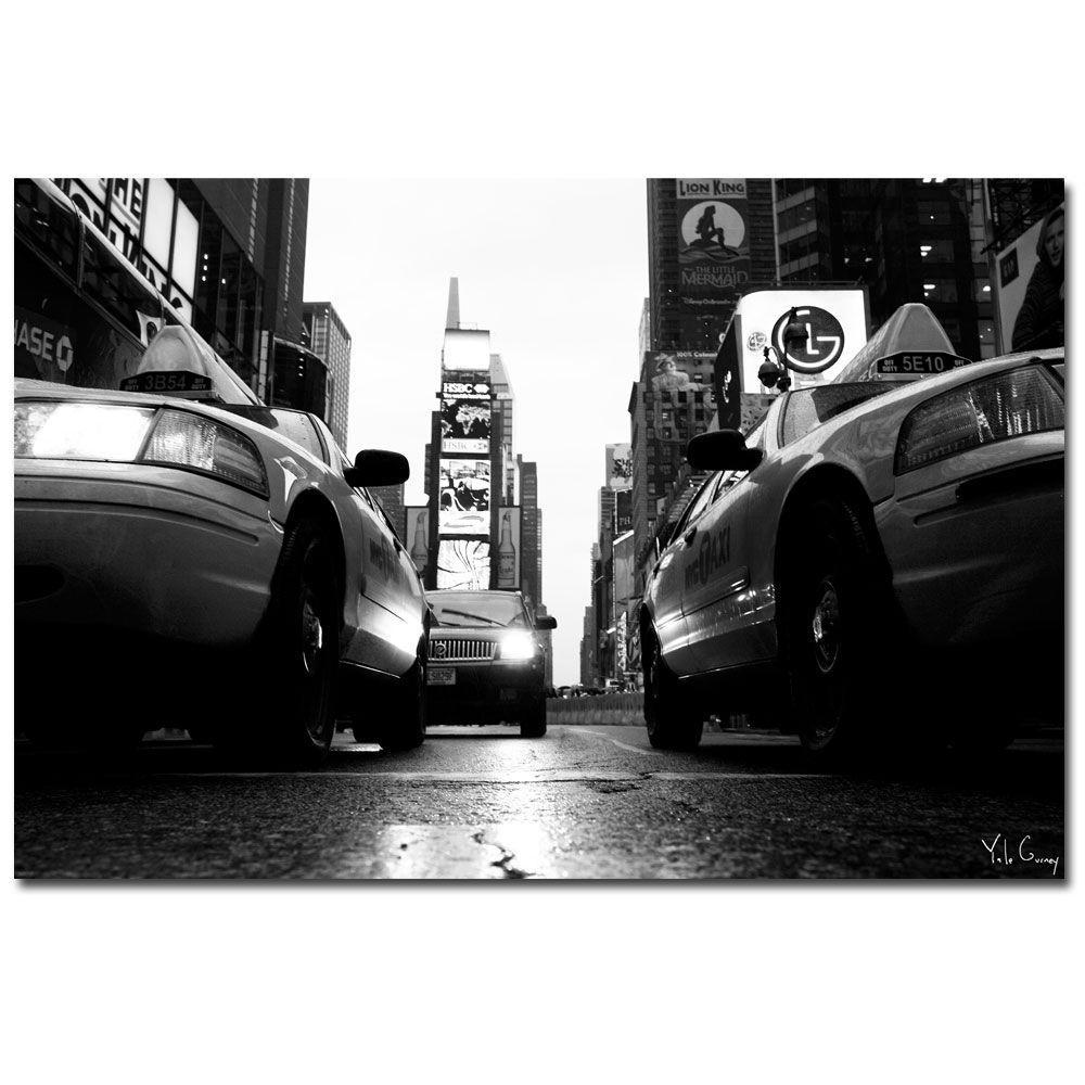 Trademark Fine Art 18 in. x 24 in. Broadway Taxis Canvas Art