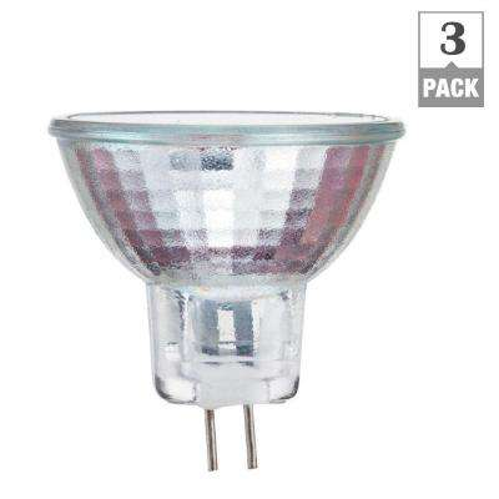 20-Watt Halogen MR16 12-Volt Spot Dimmable Light Bulb (3-Pack)