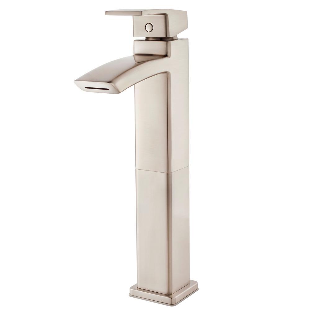 Kenzo Single-Handle Vessel Bathroom Faucet in Brushed Nickel