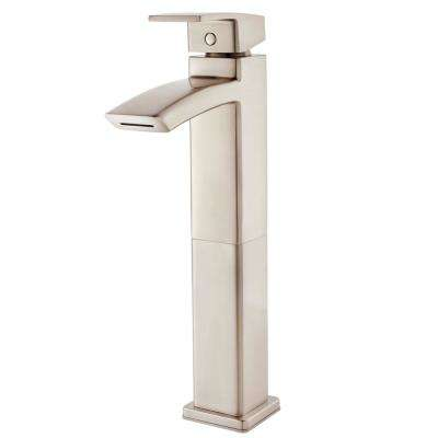 Kenzo Single-Handle Vessel Bathroom Faucet in Brushed Nickel