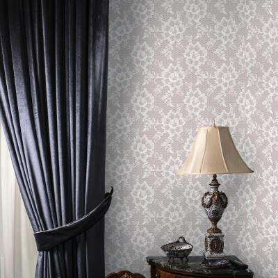 White Chocolate Lace Wallpaper